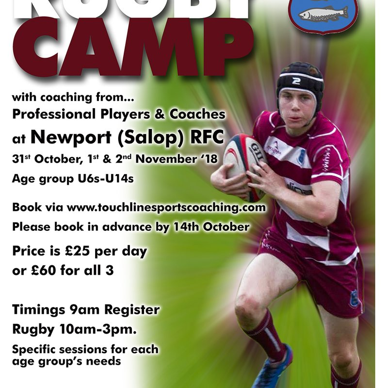 October Half Term 3 day Rugby Camp