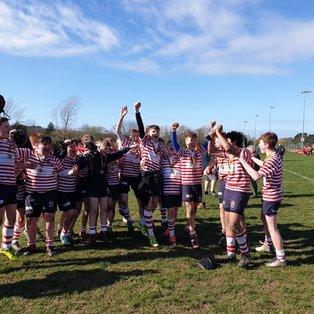 Manchester U14s celebrate Caldy Festival Win