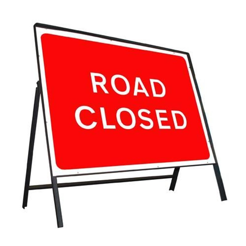 Road Closure on the way to Henham