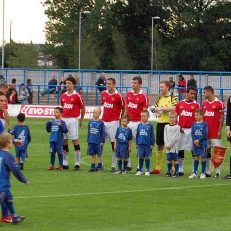 Curzon v Man United Mascots