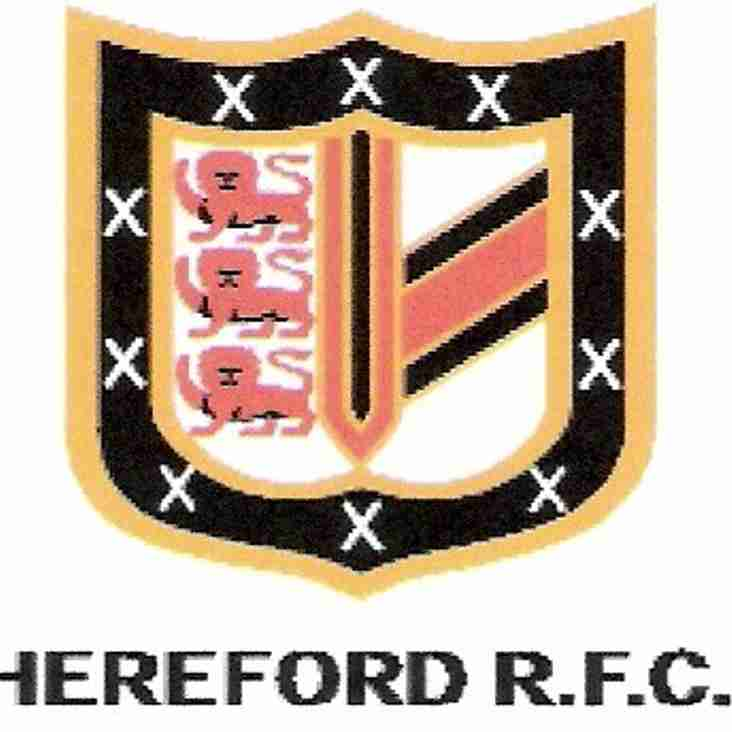 HEREFORD RUGBY FOOTBALL CLUB LIMITED A.G.M. for 2017