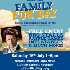 The Knowles Testimonial Match & Family Fun Day - July 16th
