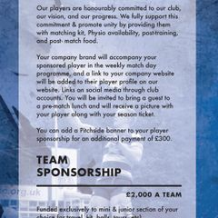 Sheffield RUFC Sponsorship Brochure