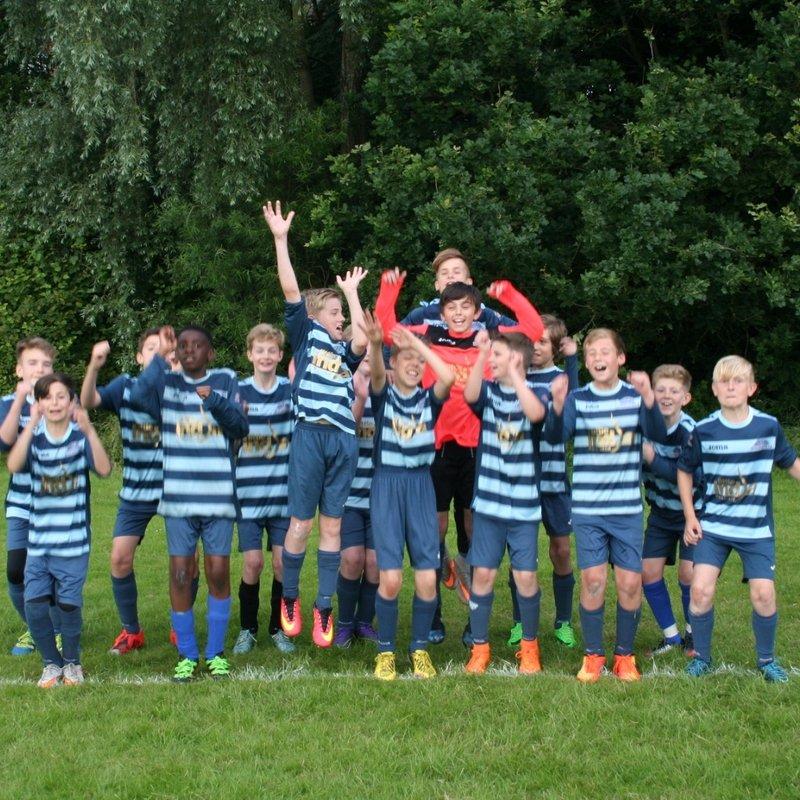 Under 14's beat Oadby Owls 4 - 2