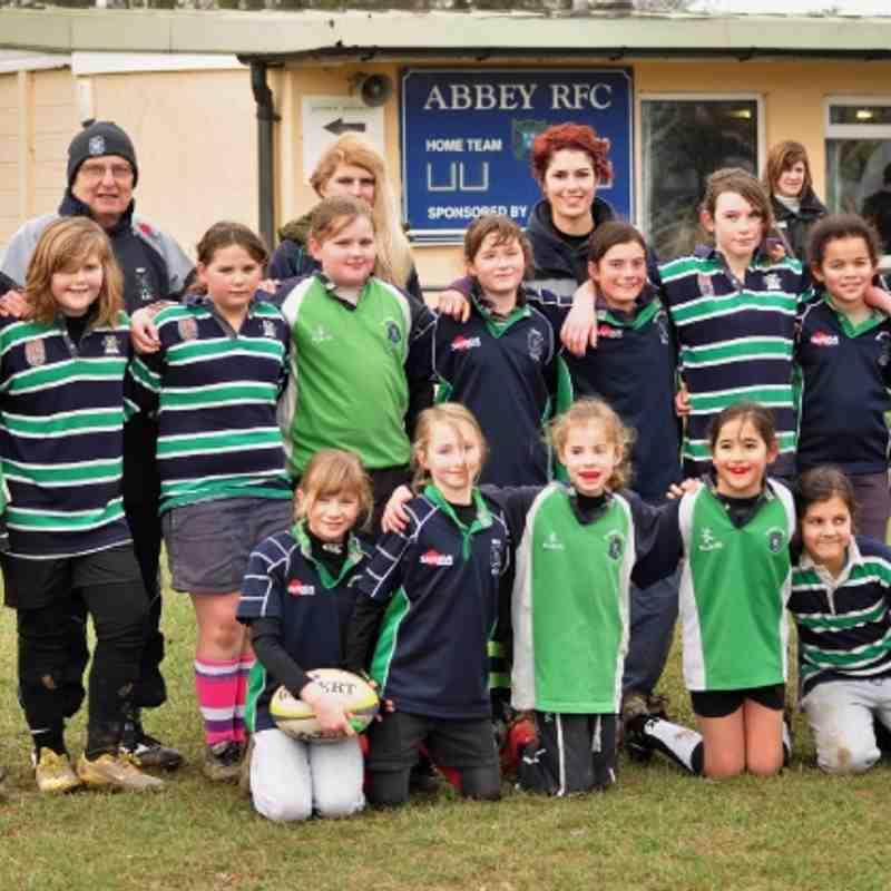 Reading Abbey Girls in action -  29 Jan 2012