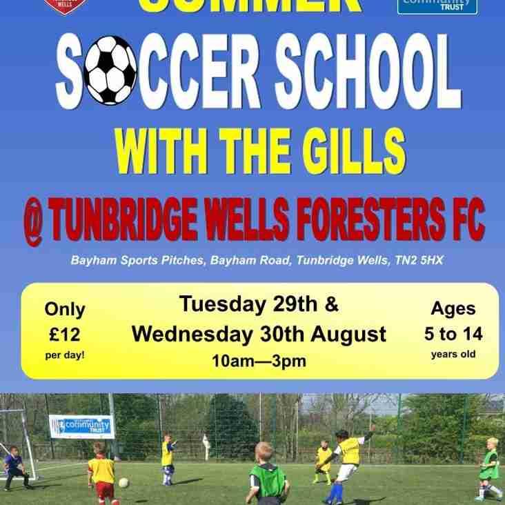 Gillingham FC Soccer School @ Bayham August 2017