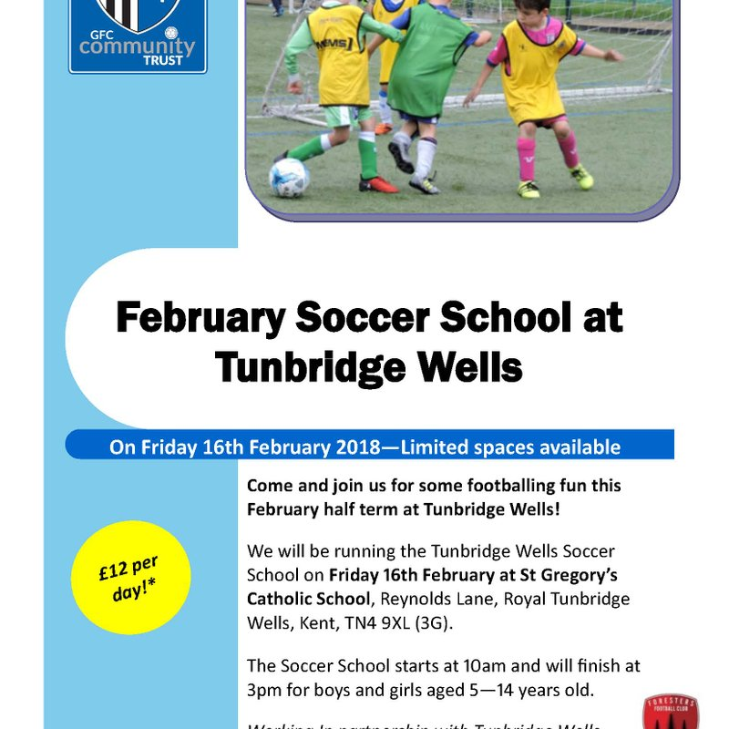 Gillingham FC announce date for 2nd Soccer Camp with TW Foresters