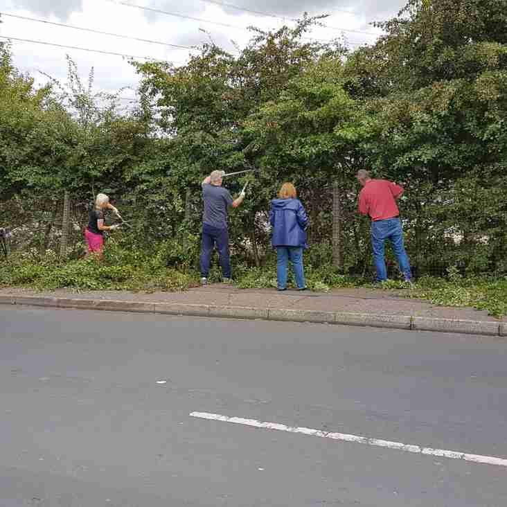 Heys ground tidy and car park improvements