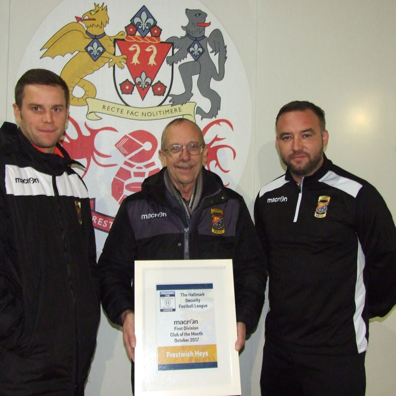 Heys presented with Club of the Month Award