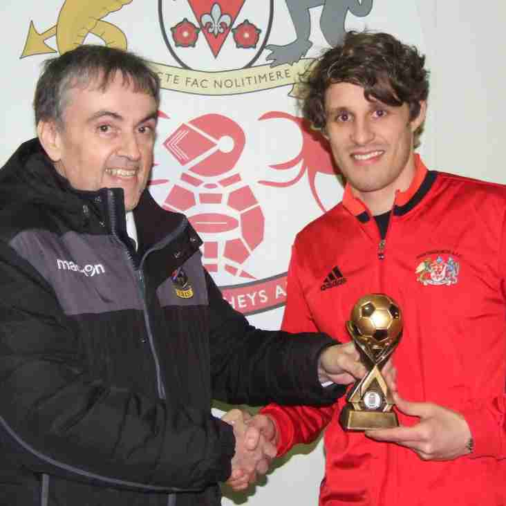 Danny White receives Macron Player of the Month Award