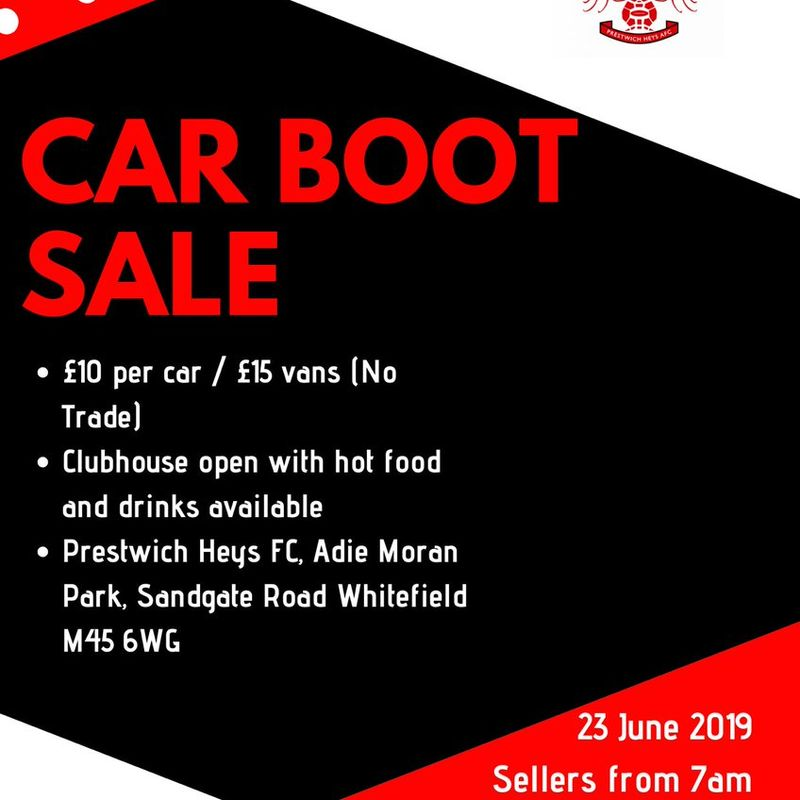 Heys to hold Car Boot Sale on 23rd June