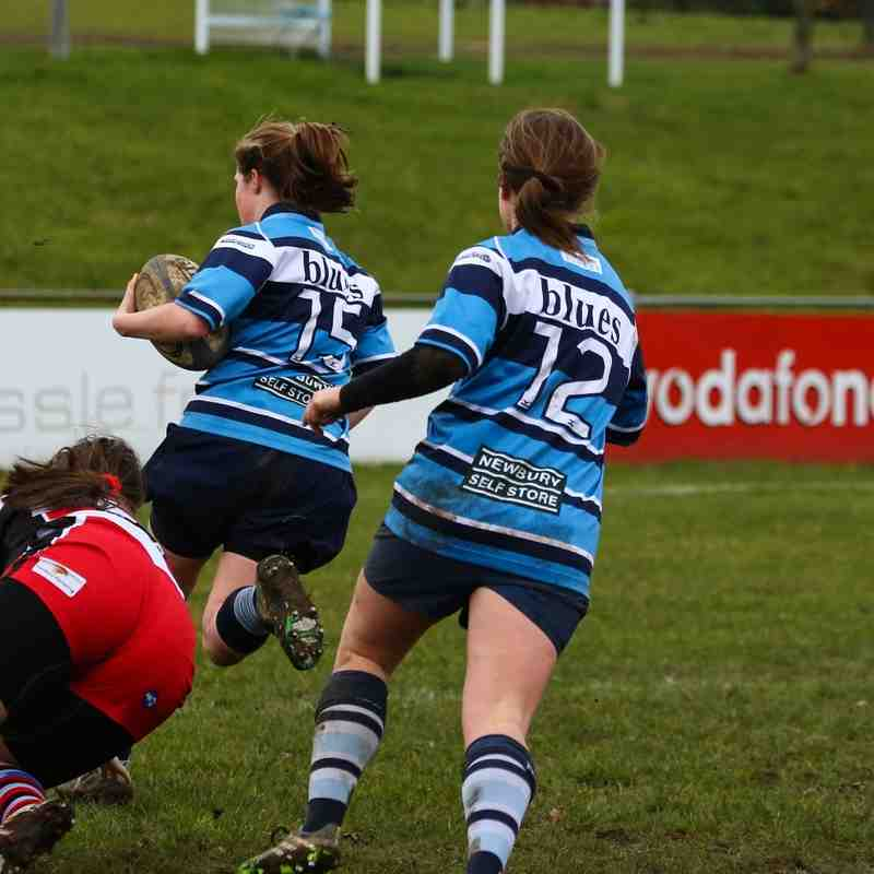 Newbury Ladies vs Gloucester Ladies 25th January 2015