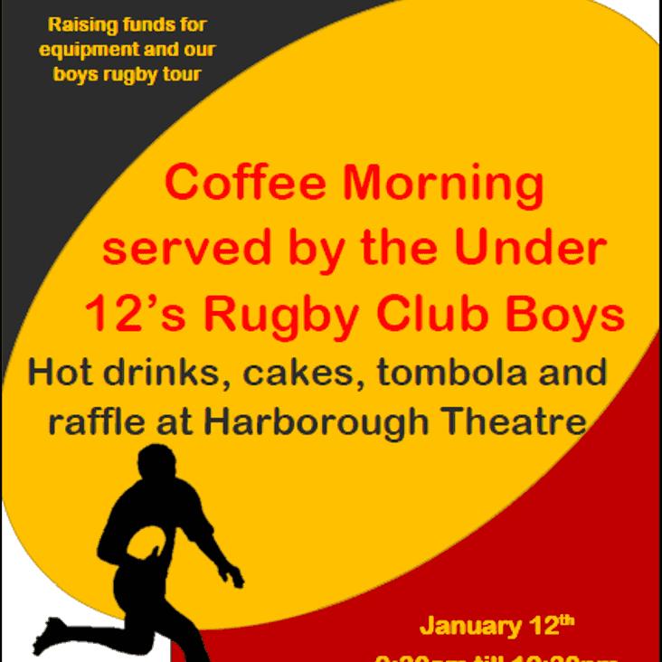 U12s coffee morning - Sat 12th January