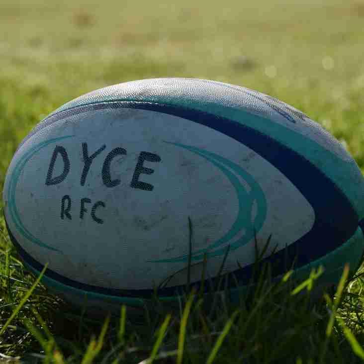 Dyce RFC 2018-19 season fixtures released