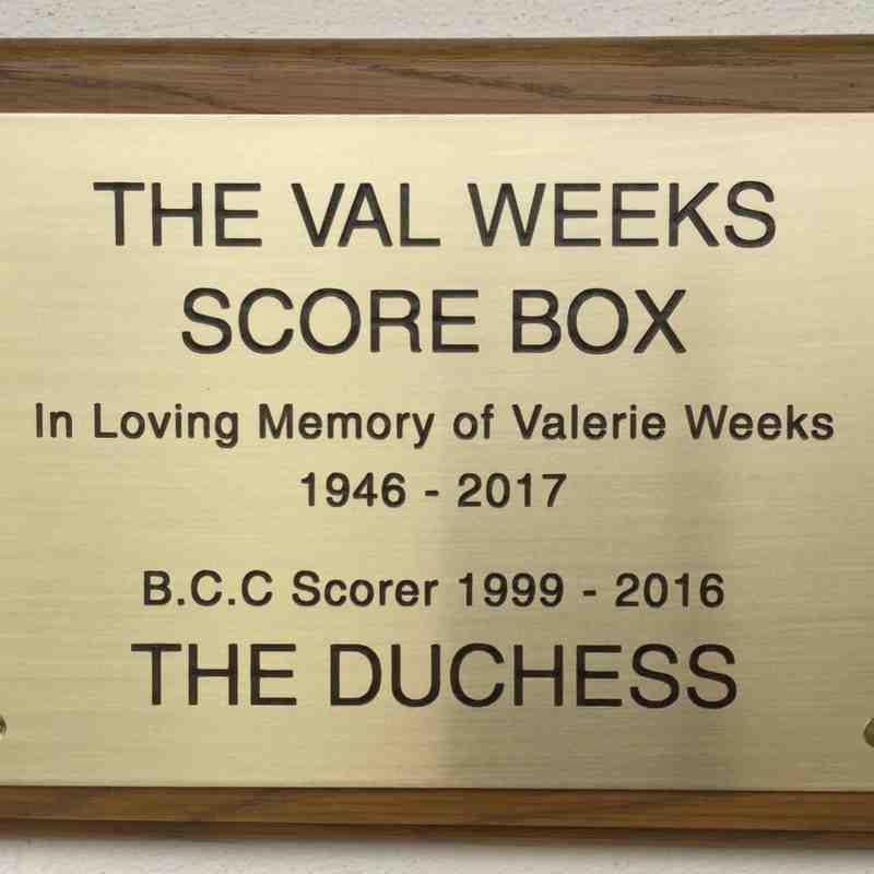 Scorebox renamed after Valerie Weeks