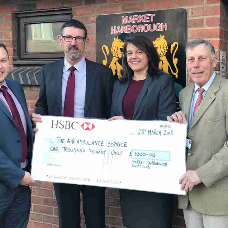 Harborough Rugby Club Supports Important Charities