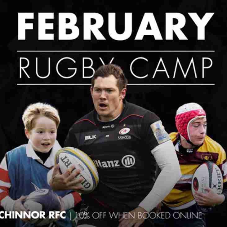 Saracens U7 - U14 Rugby Camp at Chinnor RFC