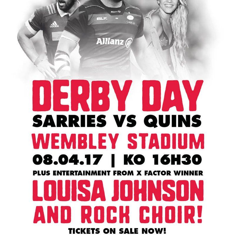 Discounted Ticket Offer for Sarries v Quins at Wembley