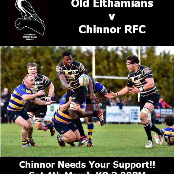Coach for Old Elthamians Sat 4th March