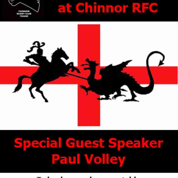 St. George's Lunch at Chinnor Rugby Club
