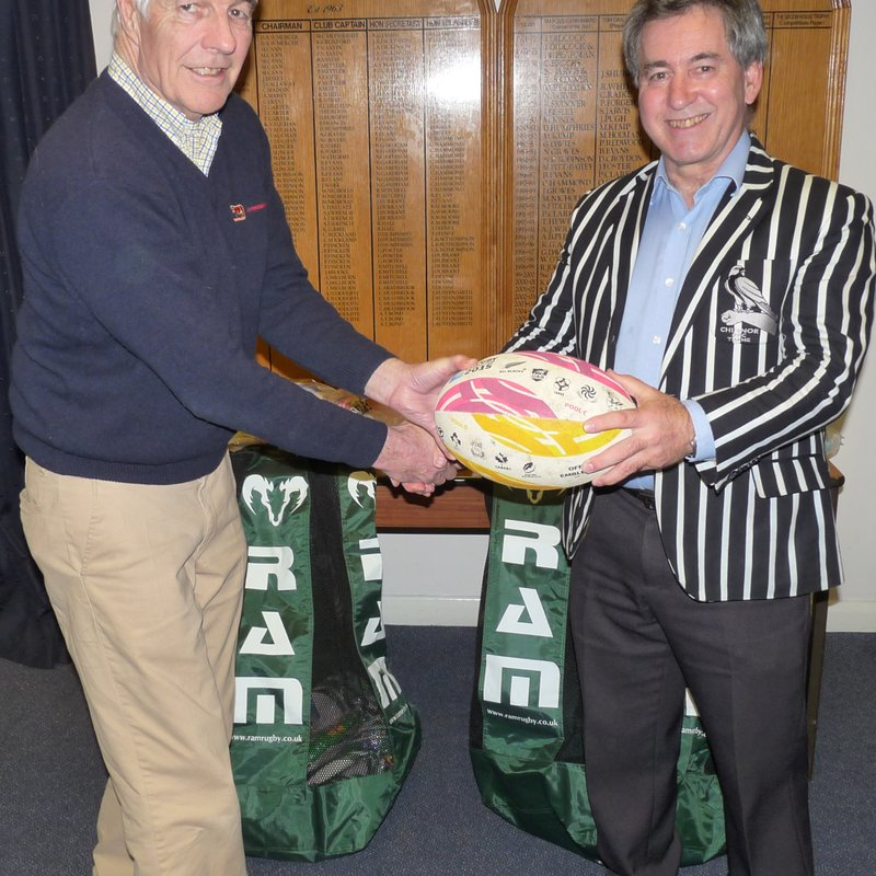 Oxfordshire RFU Present Chinnor RFC with Training Balls