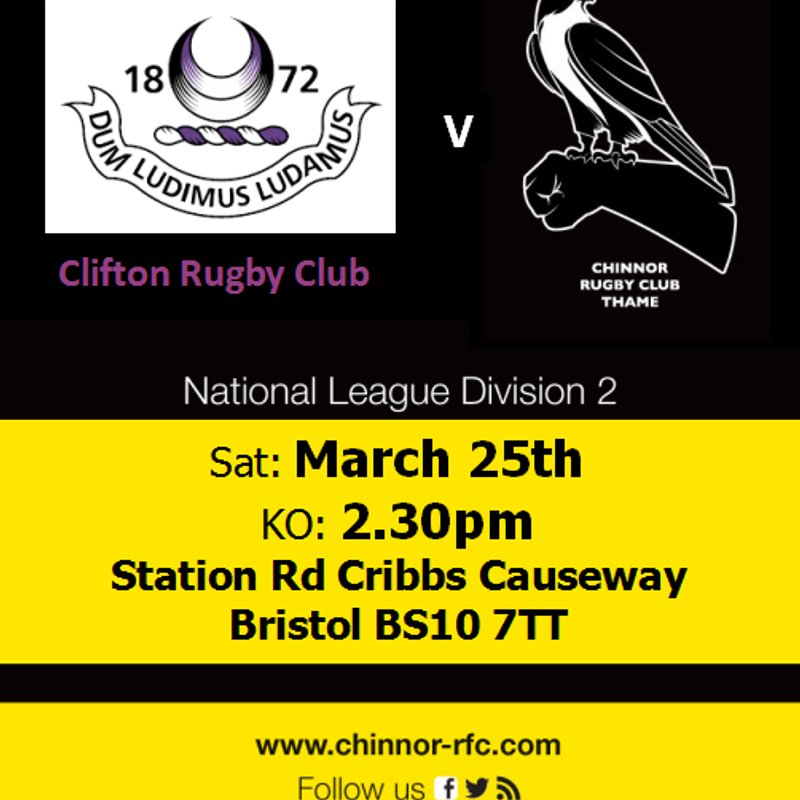 Clifton v Chinnor Saturday 25th March