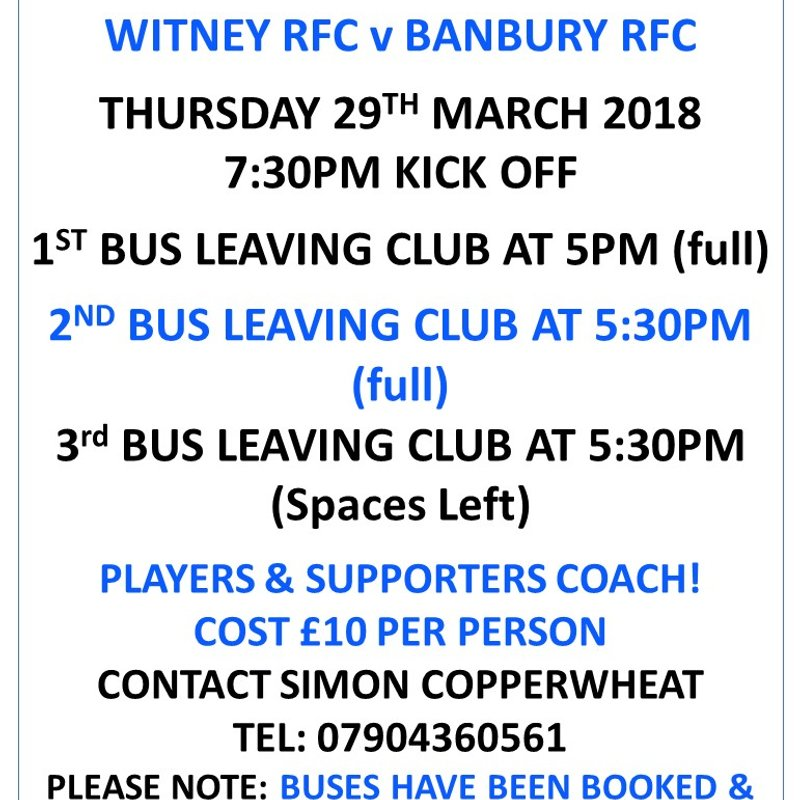 CUP FINAL BUSES!