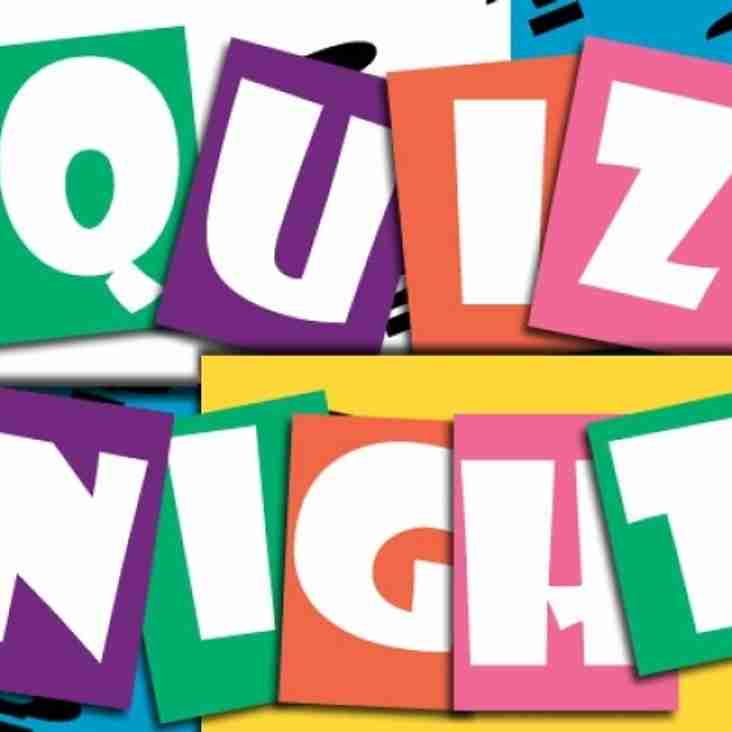 Club Quiz Night  - May 10th - 8pm start, bar open at 7.30pm.