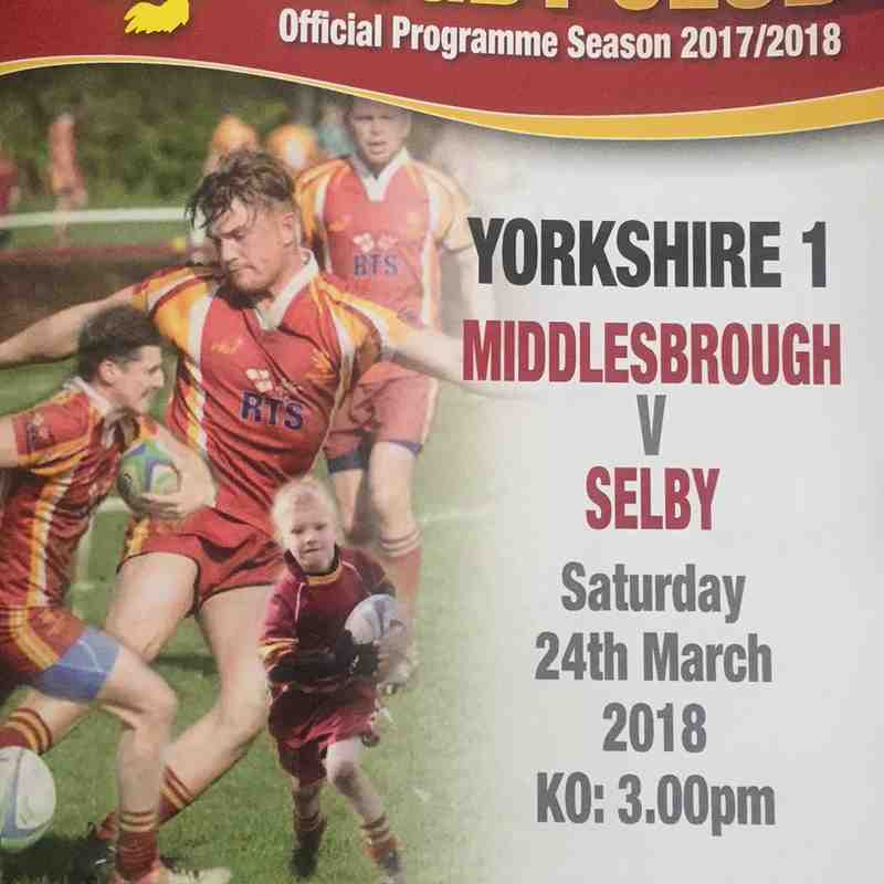 Middlesbrough 57 v 7 Selby - 24th Mar 2018