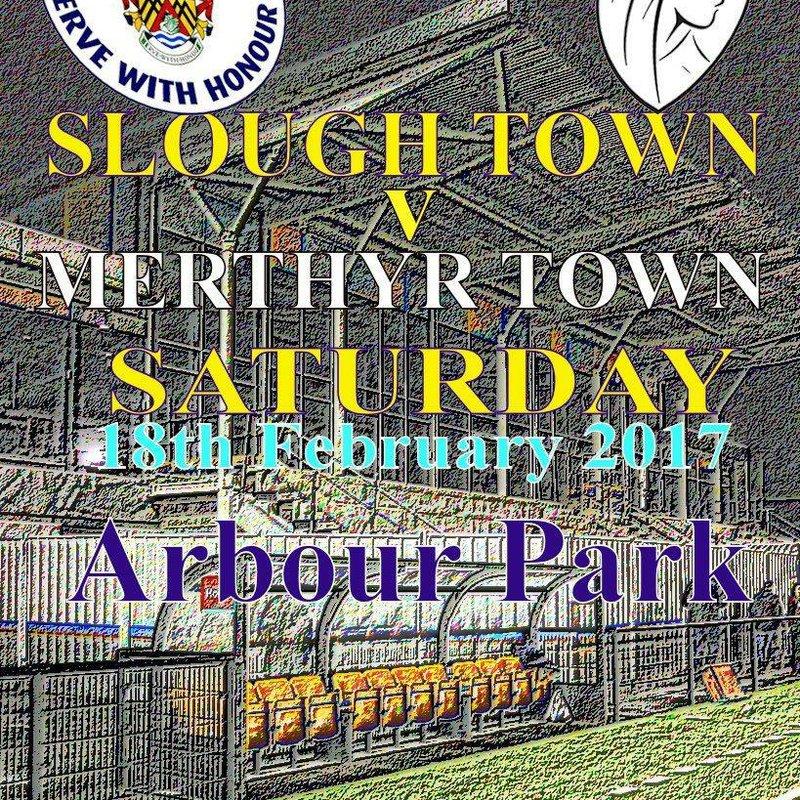 Match Preview : Slough Town v Merthyr Town, Sat 3pm.