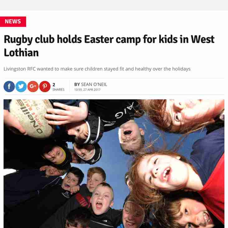 Rugby Camp - read all about it...