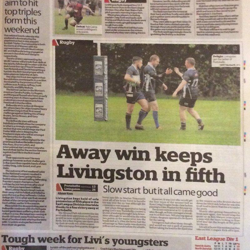 #LiviRFC Match Report, 1st XV, Youth & Girls