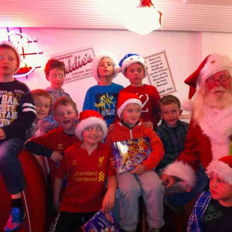 Santa and the under 8A's