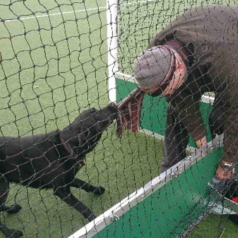 Zac helping tighten the goal nuts 2013