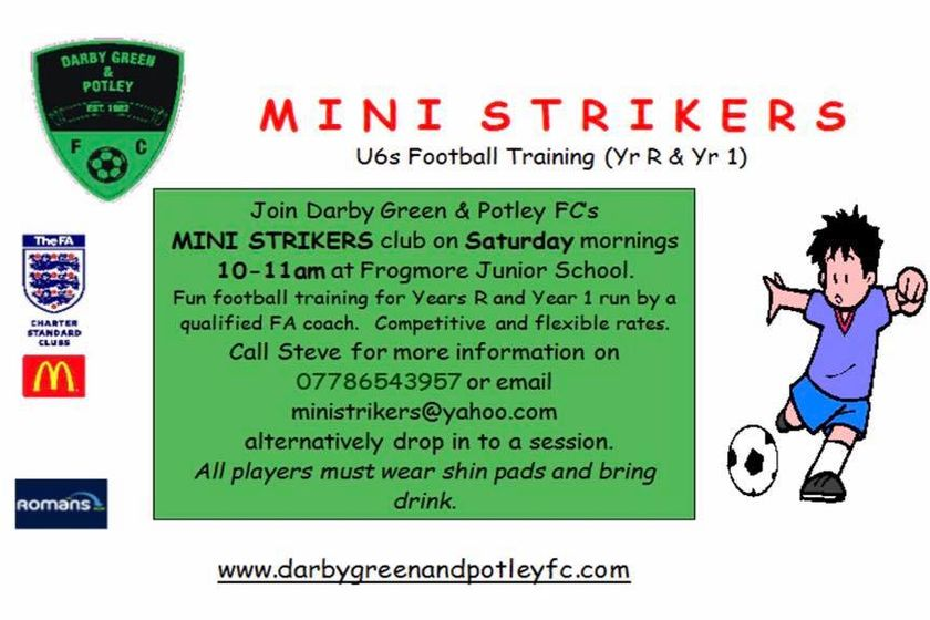 Come join the Mini strikers Club (U6s)