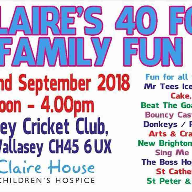 Claire's 40 for 40 Family Fun Day