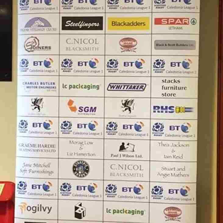 New Player Sponsors Board