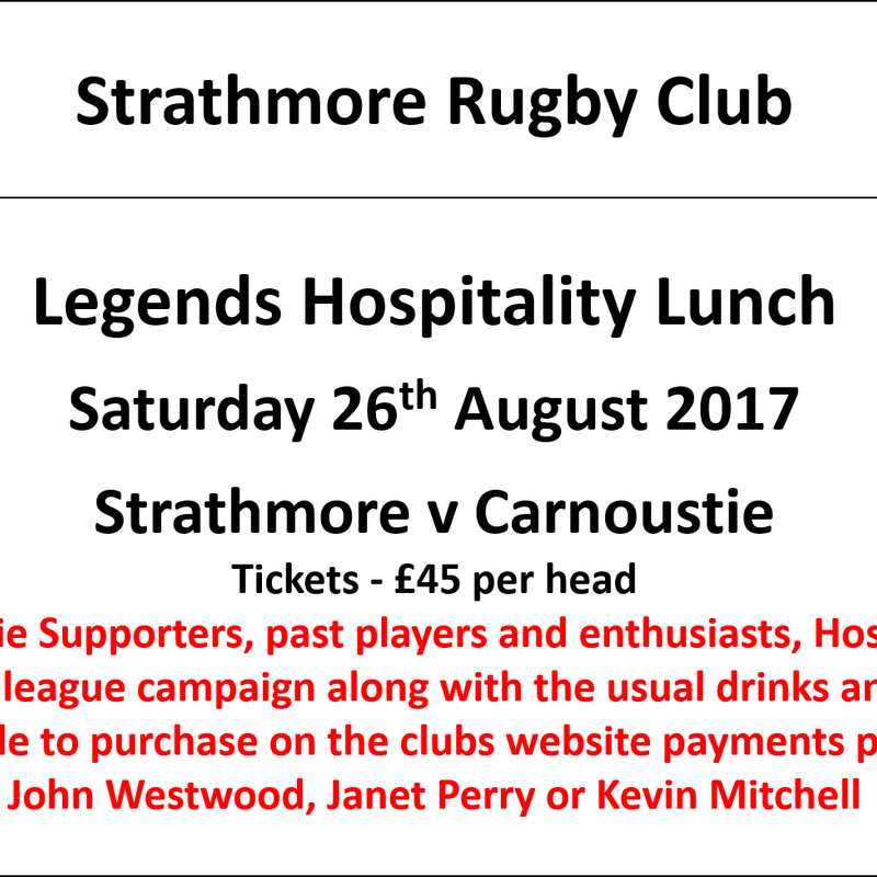 Strathmore v Carnoustie, Hospitality Lunch - 26th August 2017