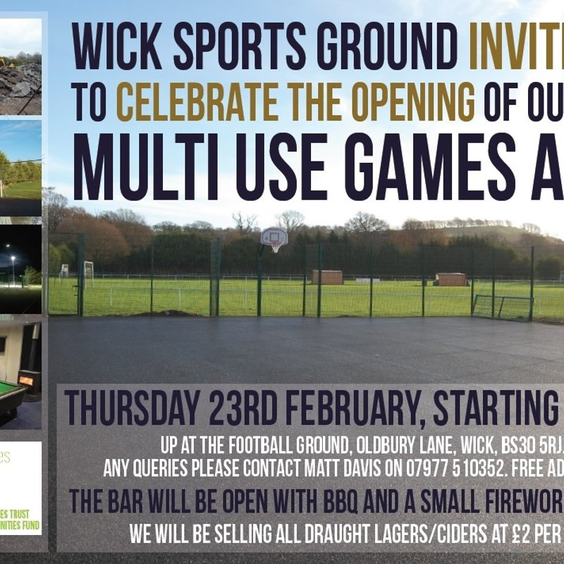 Multi-Use-Games-Area Opening Event