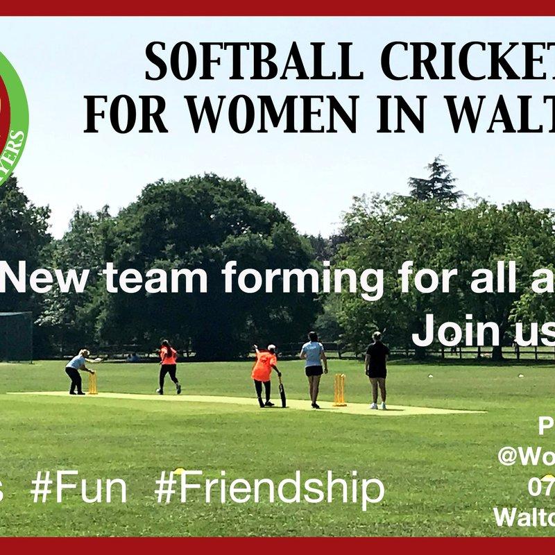 Softball Cricket for Women in Walton
