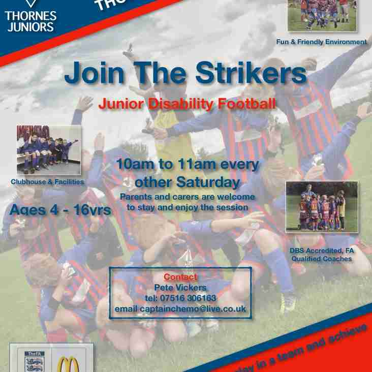 Well Done Thornes Strikers!