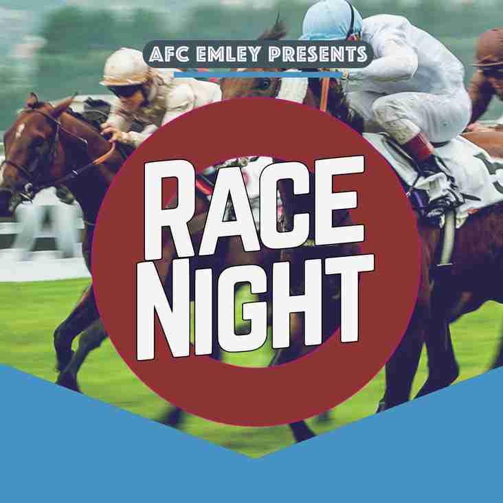 Race night: 29th September