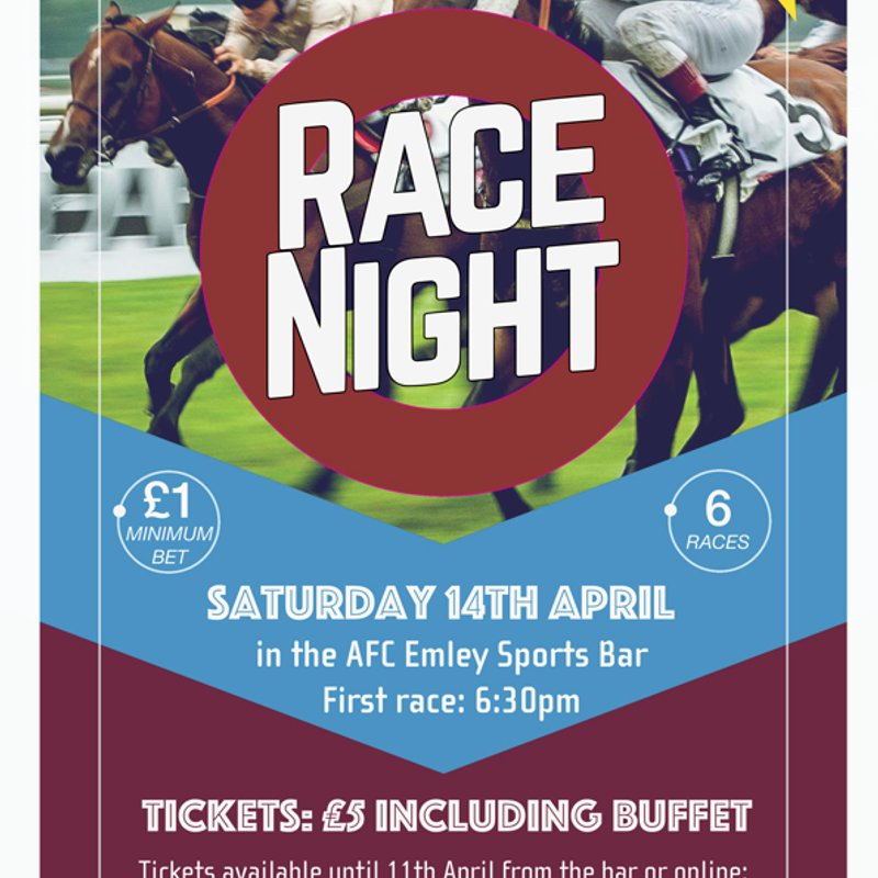 Race Night - 14th April