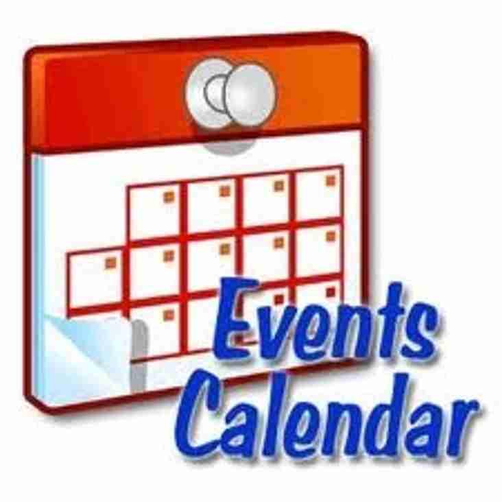 Updated Social Events Calendar