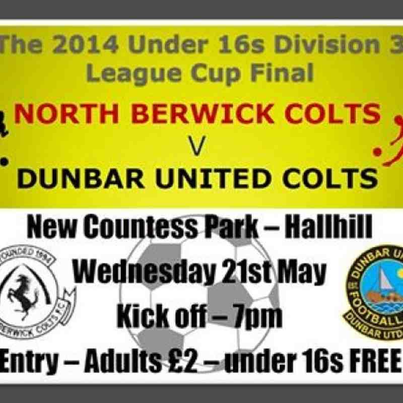 U16s League Cup Final