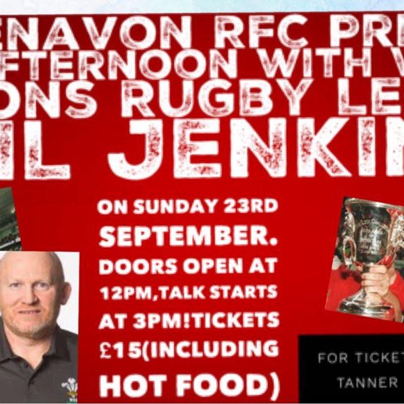 Neil Jenkins At Blaenavon Rugby Club