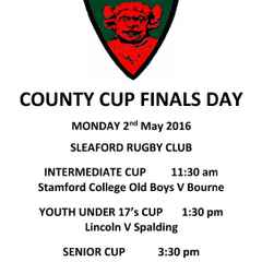 LINCOLNSHIRE RFU COUNTY CUP FINALS DAY