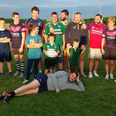 Pre-season touch rugby being enjoyed by all