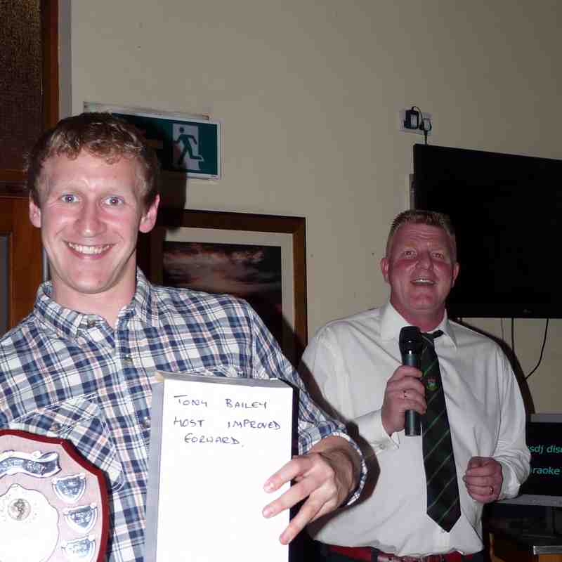 Most Improved - Matt Mason (accepted by an idiot holding the wrong caption)