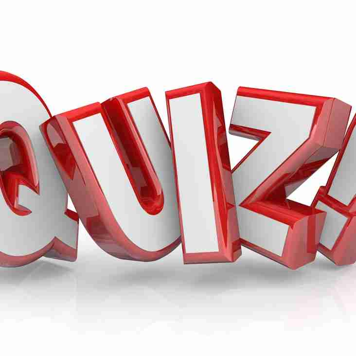 Club Quiz Night on Sat 21 October. First question 7.30pm #oneclub